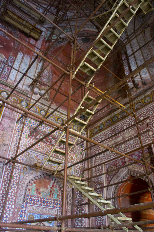 Ladders Inside the Jami Masjid