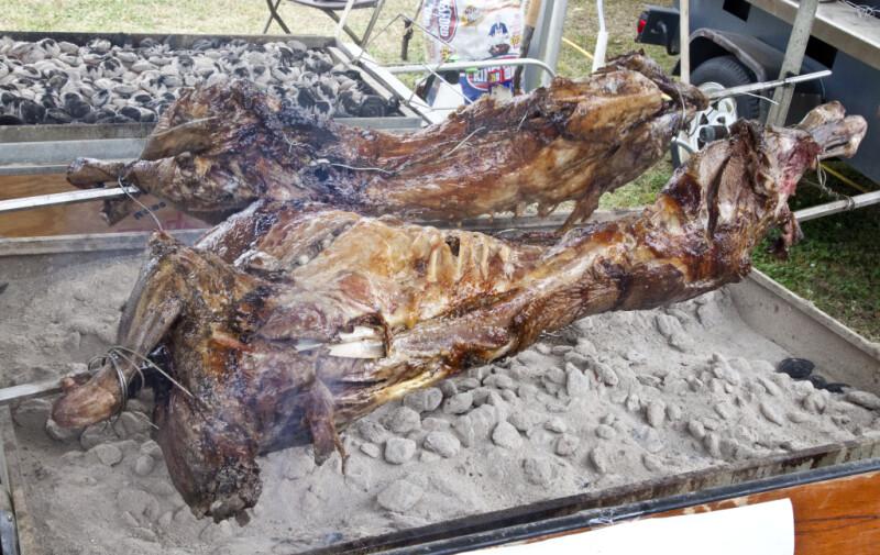 Lamb Roasting over a Bed of Coals
