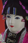 Laos Female Figure with Hand Painted Fabric Face (Extreme Close Up)