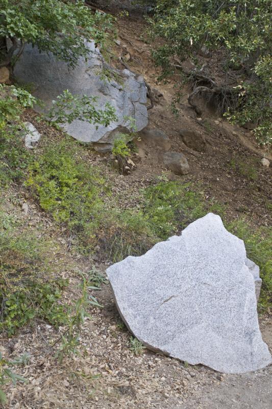 Large, Angular Blocks of Granodiorite