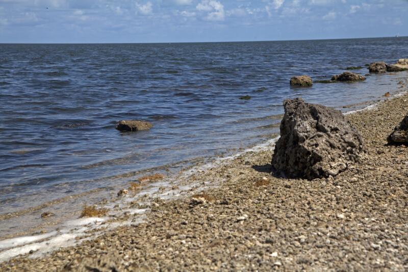 Large Rocks on the Shore at Biscayne National Park