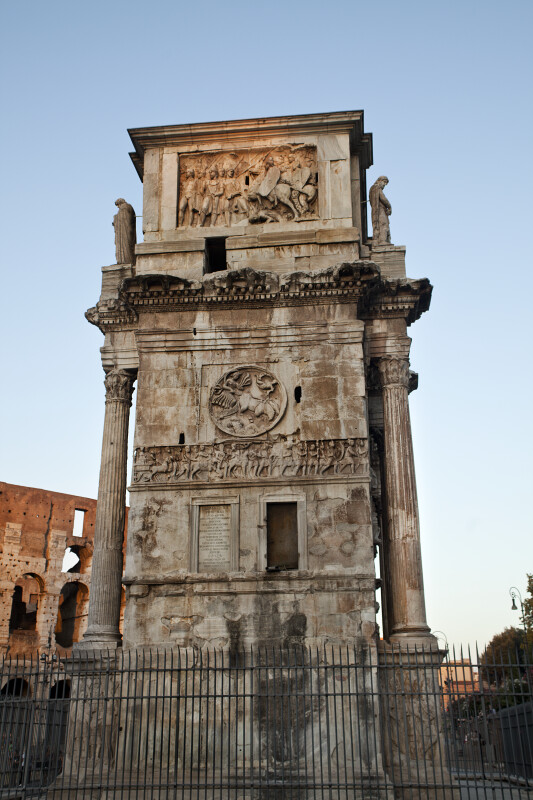 Lateral View of the Arch of Constantine