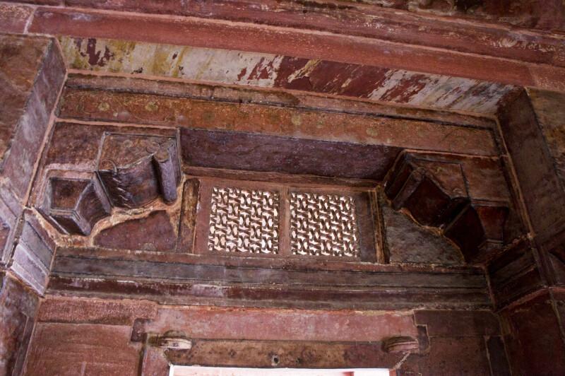 Lattice Work Above Door in Khwabgah