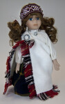 Latvia Doll Wearing National Costume, Tautumeita (Full View)