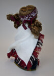 Latvia  Porcelain Doll Dressed in National Costume with Woven Headband (Back View)