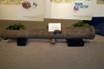 Left Side of a Cannon on Display at the Timucuan Preserve Visitor Center of Fort Caroline National Memorial