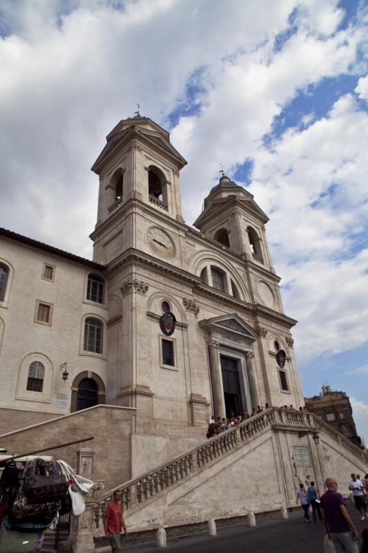 Left Side View to the Santissima Trinita' dei Monti church