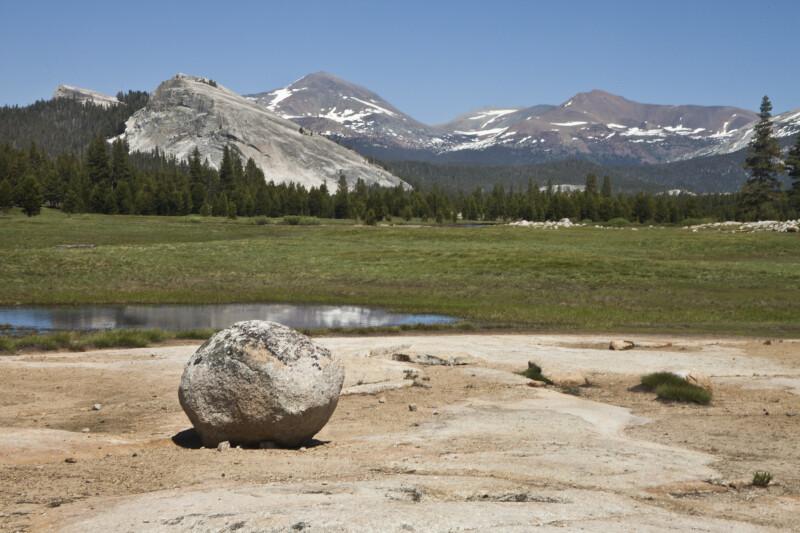Lembert Dome, Mount Dana, and Mount Gibbs
