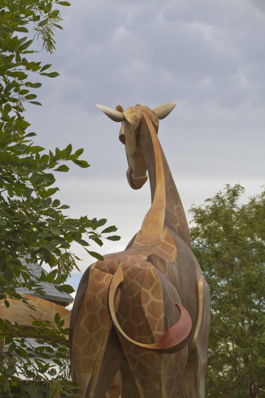 Life-Size Giraffe Sculpture