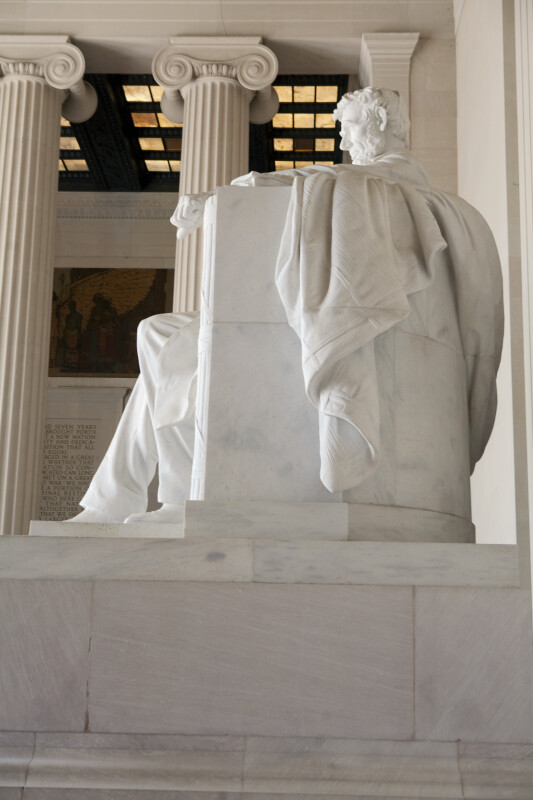 Lincoln Statue from Side