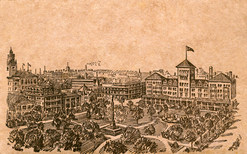 Line Art of Hemming Park and the Windsor Hotel
