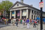 Line of People Waiting to Enter the Quincy Market
