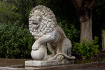 Lion and Ball Statue