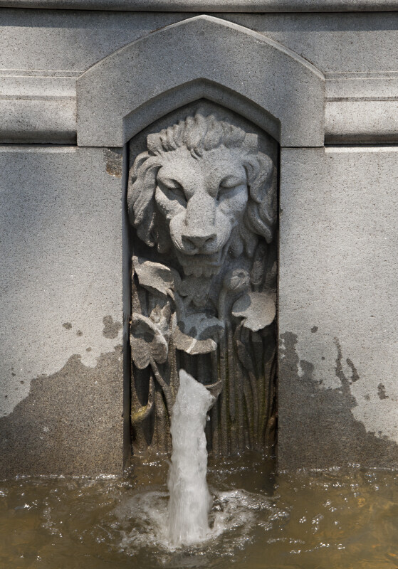 Lion on the Ether Monument at the Boston Public Garden