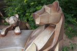 Lioness and Cub Sculpture