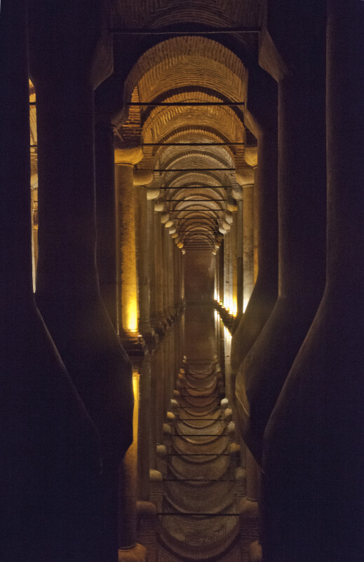 Long Row of Columns at the Basilica Cistern