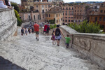 Looking Down on Piazza di Spagna.