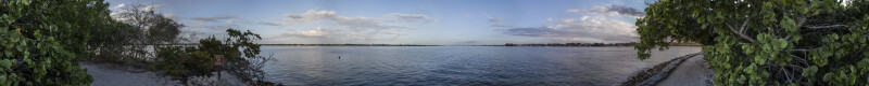 Looking East from the Mouth of the Manatee River.