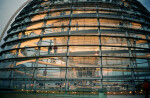 Looking into the Reichstag Dome