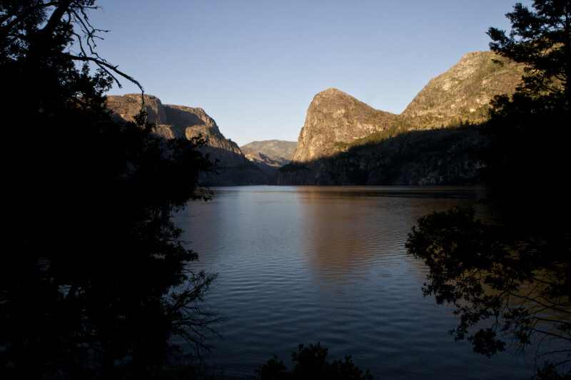 Looking through the Trees at Kolona Rock and Hetch Hetchy Dome