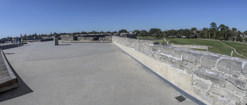 Looking West Towards St. Augustine from Castillo de San Marcos' Main Watch Tower