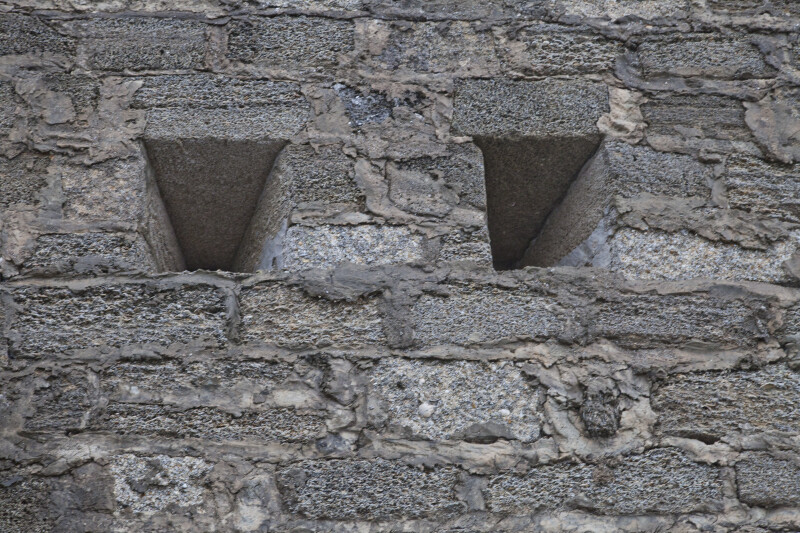 Loopholes on the South Wall of the Watchtower