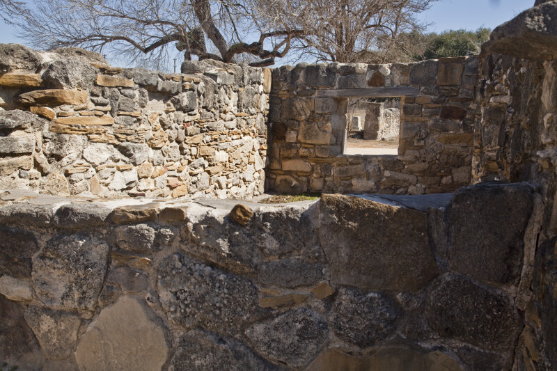 Low Stone Ruins of Native American Living Quarters