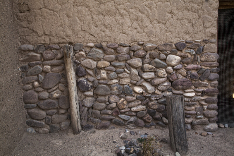 Low Stone Wall at Alvino House