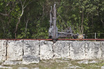 Machine Apparatus Along Keystone Blocks at Windley Key Fossil Reef Geological State Park
