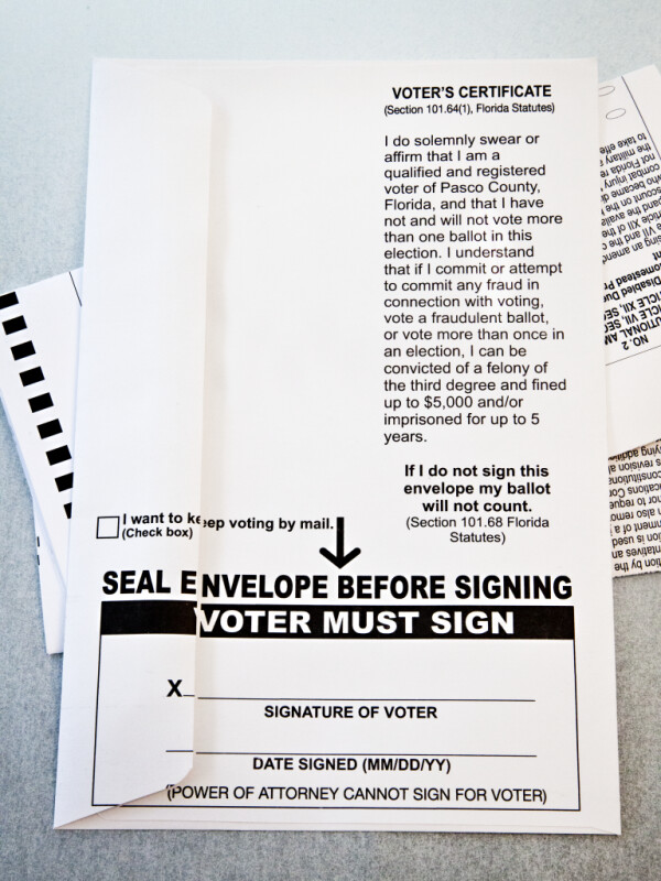 Mail-In Ballot Envelope