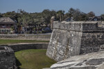 Main Wall and Parapet of Castillo de San Marcos' Southwest Bastion Viewed from the Southeast Bastion