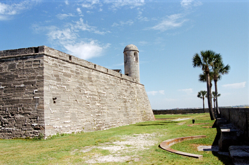 Main Watchtower Extending from Castillo de San Marcos' Northeast Bastion