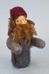 Maine Handcrafted Male Doll Made from Needle Felting Wool (Full View)