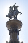 Man on Horseback at Fountain