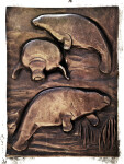 Manatees in Bronze