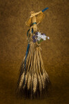 Manitoba, Canada - Female Doll Made from Wheat Holding a Bouquet (Full View)