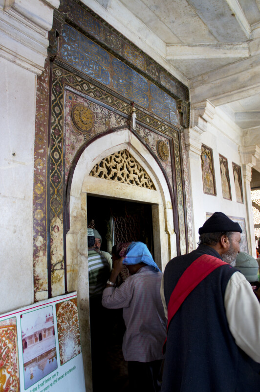 Many Colored Door entering Salim Chishti's