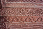 Many Detailed Patterns in Red Sand Stone