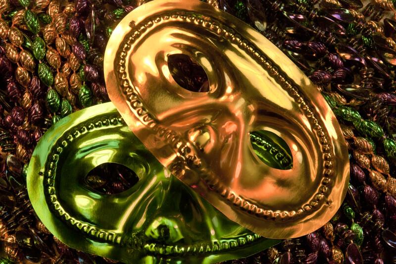 Mardi Gras Masks and Beads