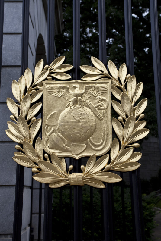 Marine Corps Seal on Gate