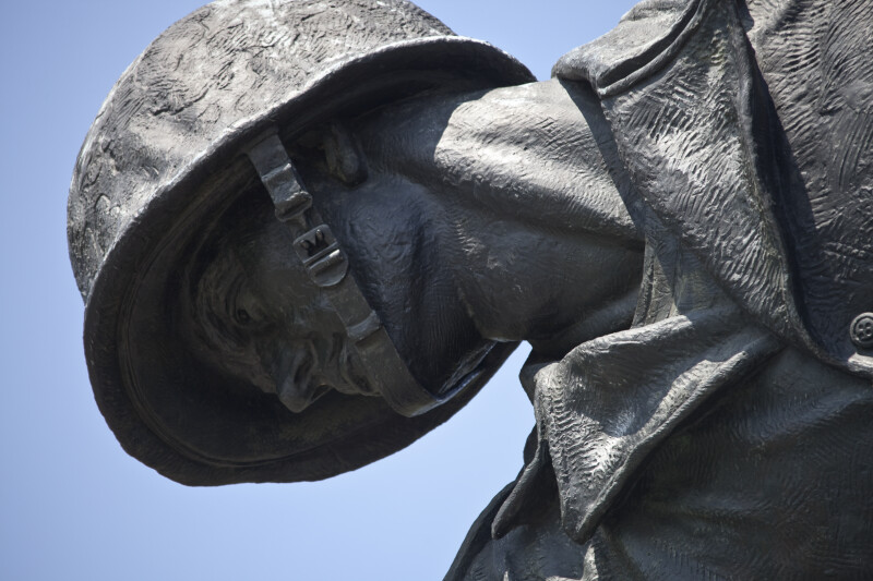 Marine Wearing Helmet