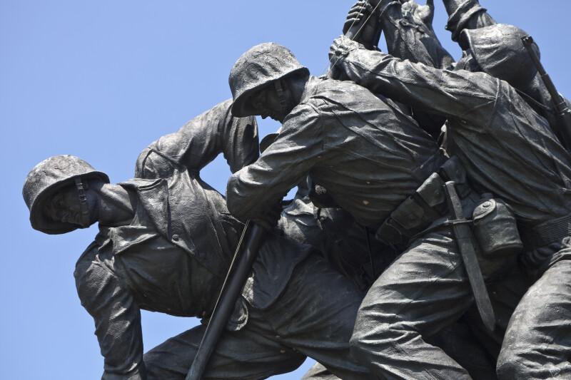 Marines and Flagpole