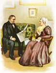 McKinley Reading to His Mother