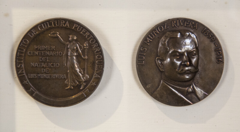 Medal Commemorating the Centennial of Luis Muñoz Rivera's Birth