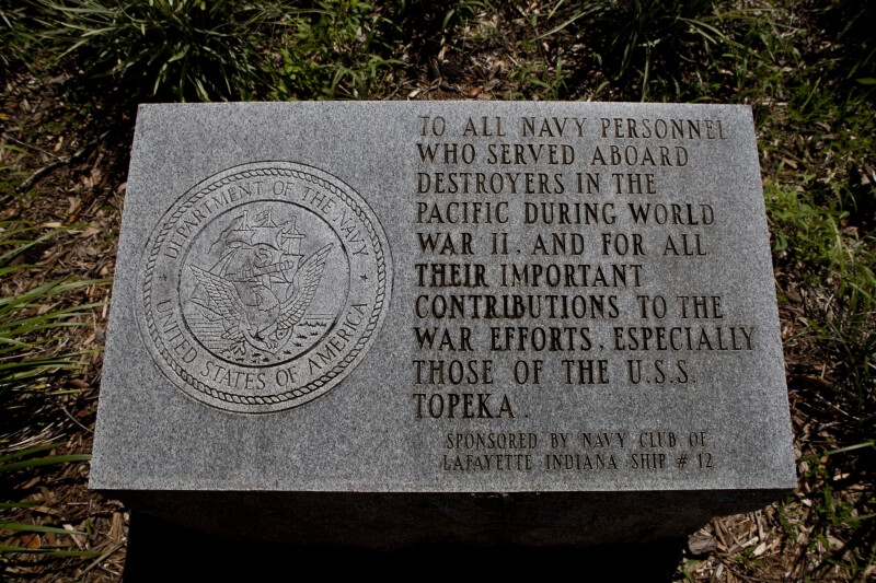 Memorial to Veterans of World War Two Destroyers