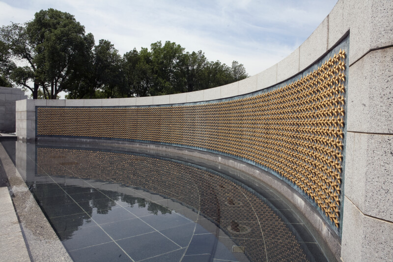 Memorial Wall from the Side