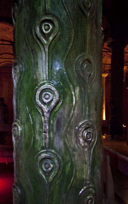Teardrop Column at the Basilica Cistern