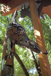 Metal Giraffe Head at the Sacramento Zoo