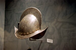 Metal Helmet on Display at the Timucuan Preserve Visitor Center of Fort Caroline National Memorial