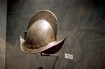 Metal Helmet on Display at the Timucuan Preserve Visitor Center of Fort Caroline National Memorial